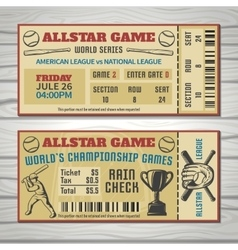 Baseball Competitions Tickets vector