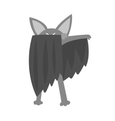 Bat Animal Dressed As Superhero With A Cape Comic vector