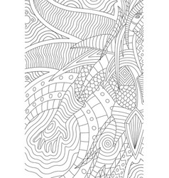 beautiful coloring book page with cartoon hero vector image