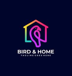 Bird home template vector