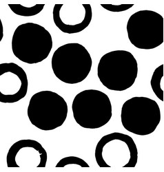 black seamless texture with circles vector image