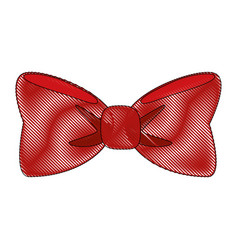 Bow tie isolated vector