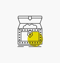 Box chest gold reward treasure line icon vector