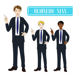 business man pointing vector image
