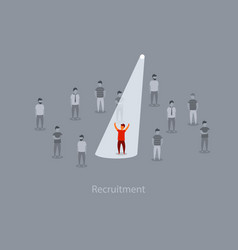 business recruitment or hiring concept vector image