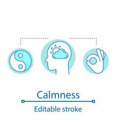 calmness concept icon vector image