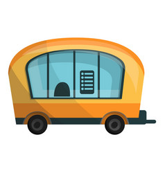 city info truck icon cartoon style vector image