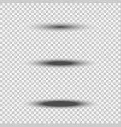 different transparent black oval shadow set vector image