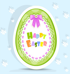 easter egg-laced postcard vector image