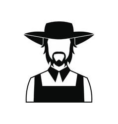 Farmer icon black vector