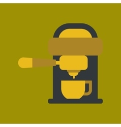 Flat icon on background coffee electronic machine vector