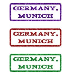 Germany munich watermark stamp vector