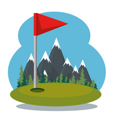 Golf sport champions league icons vector