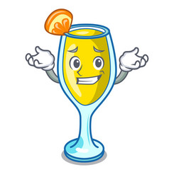 Grinning mimosa character cartoon style vector