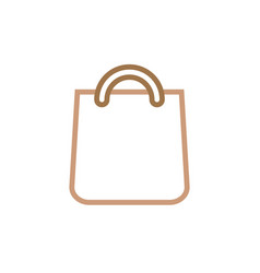 grocery bag icon design template isolated vector image