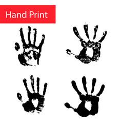 Hand print set hand vector