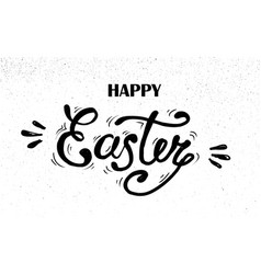 happy easter hand drawn lettering design for vector image