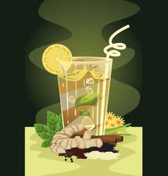 Herbal drink vector