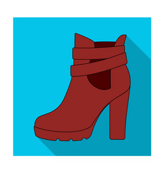 high women red shoes for everyday wear different vector image