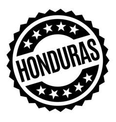 honduras typographic stamp vector image