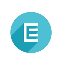 Letter E document logo icon design template vector image