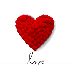 Love design on white background with big heart vector