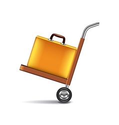 Luggage cart isolated on white vector image