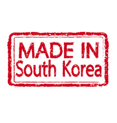 made in south korea stamp text vector image