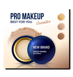 make-up powder cosmetics promotion poster vector image