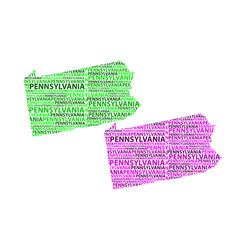 map of pennsylvania vector image