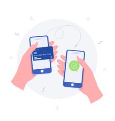money transaction online concept vector image