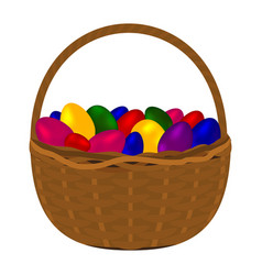 multicolored colorful eggs for happy easter vector image