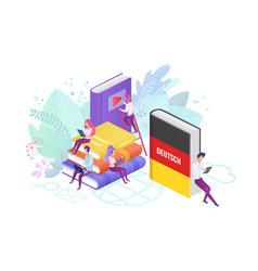 online language modern courses flat vector image