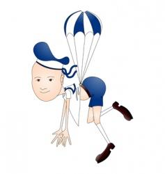Parachute boy vector