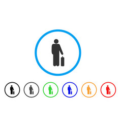 Passenger rounded icon vector