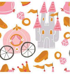 princess seamless pattern for textile vector image