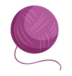 Purple yarn ball icon cartoon style vector