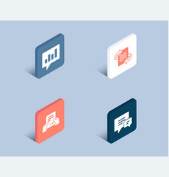 Receive file marketing and analytical chat icons vector