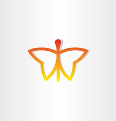 Red butterfly icon design vector