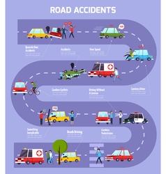Road accident infographic flowchart vector