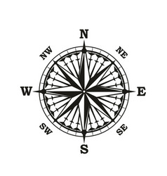 Rose of winds marine navigation compass arrows vector