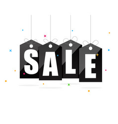 sale sign on black tags vector image