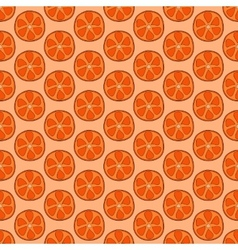Seamless doodle orange pattern vector image