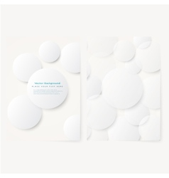 Set of abstract template flyer vector