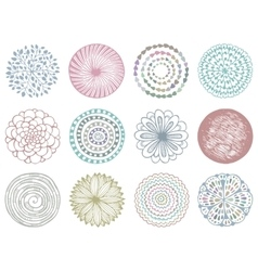 Set of colorful deco mandalas vector