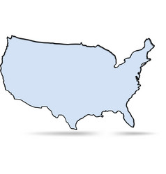 simple map usa vector image