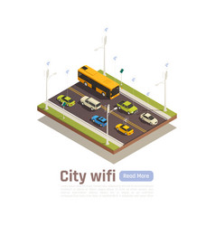 smart city isometric banner vector image