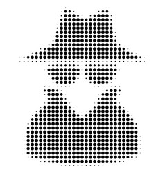 Spy halftone icon vector