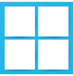 Square empty flyers mockup vector