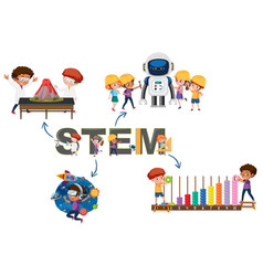 stem logo with activity vector image